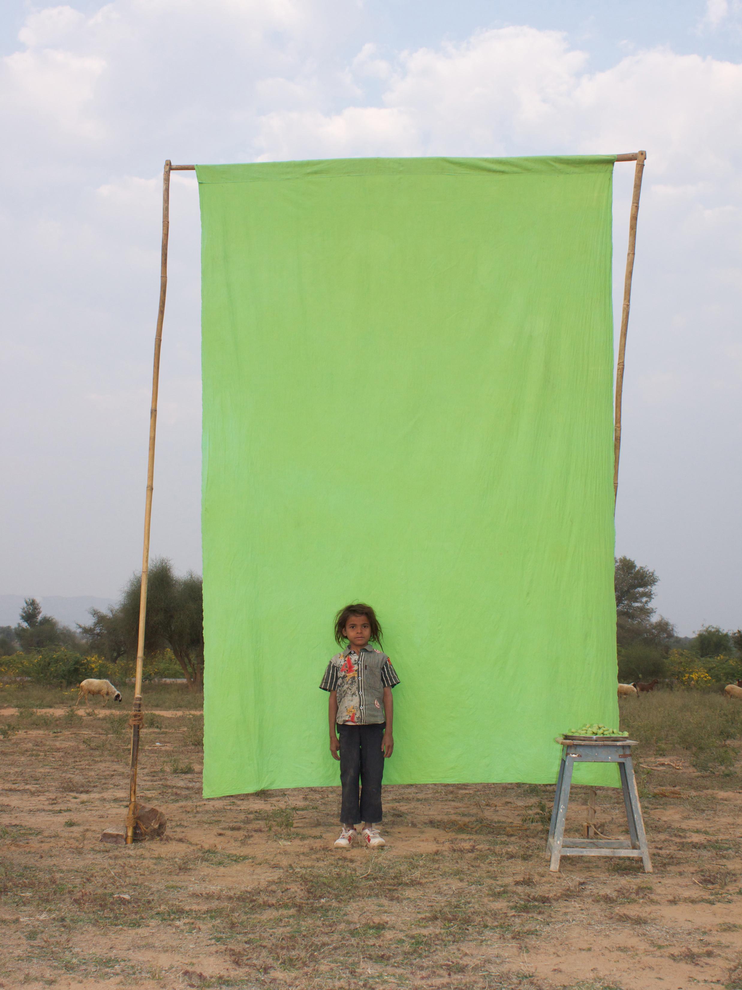 Benjamin Faga   Chroma Green No. 9    C-print    30 x 40 inches