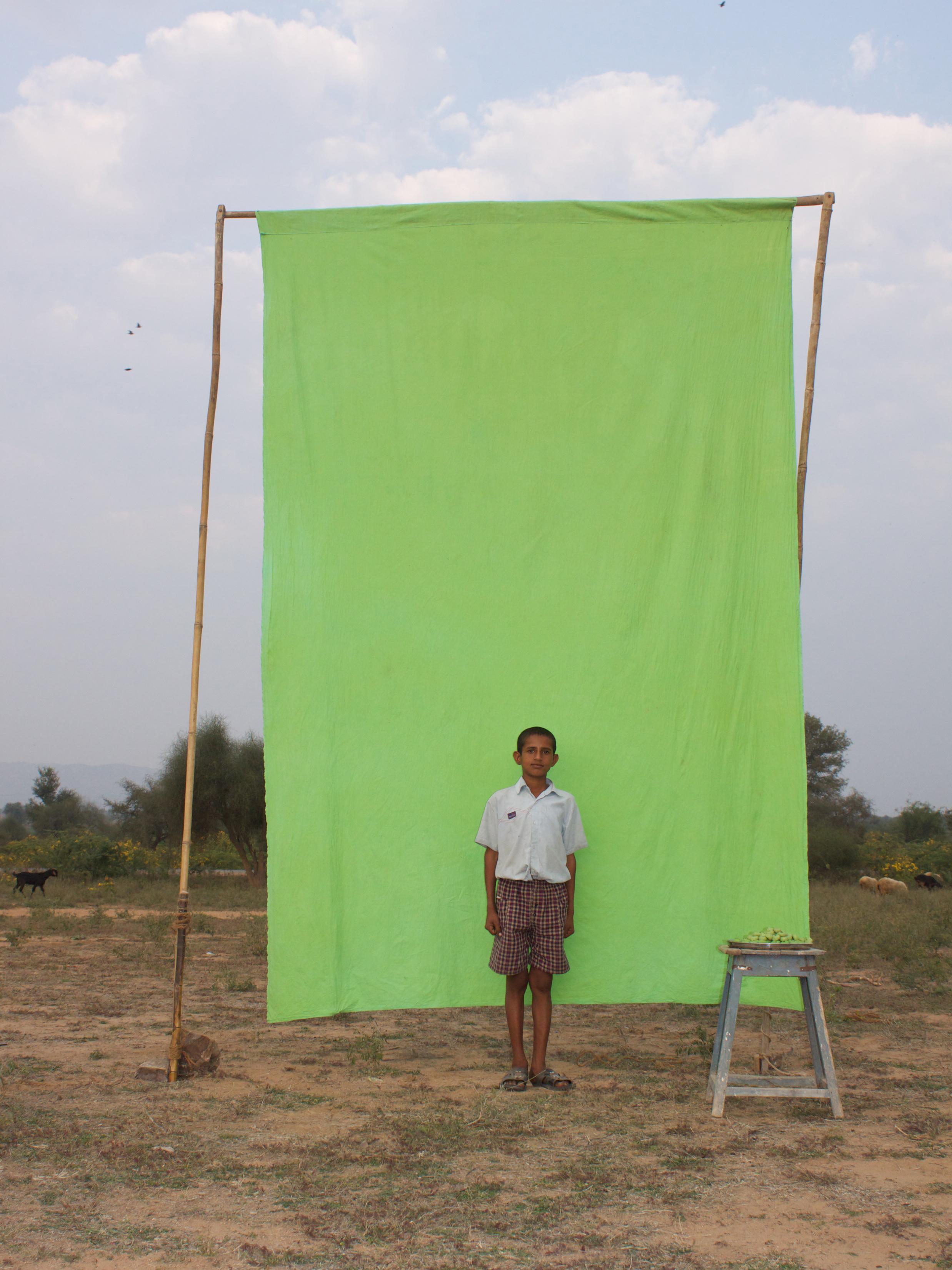 Benjamin Faga   Chroma Green No. 13      C-print    30 x 40 inches