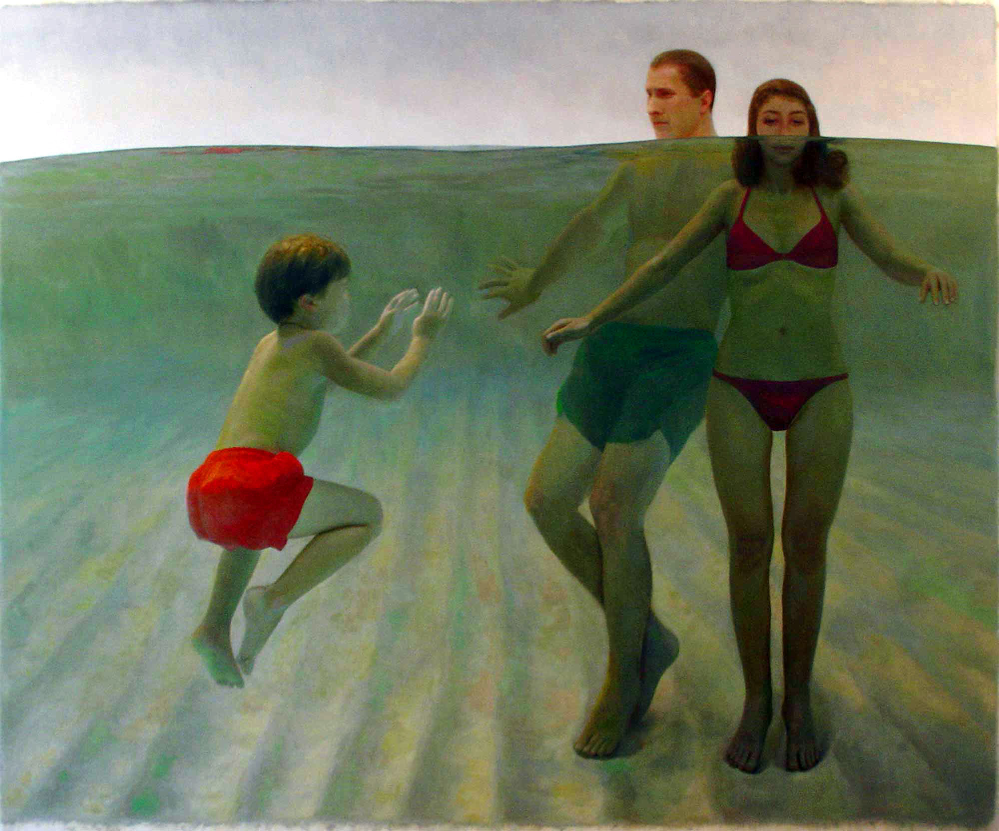 Bryan LeBoeuf   Swimming Lesson , 2006   Oil on Canvas    74 x 90 inches