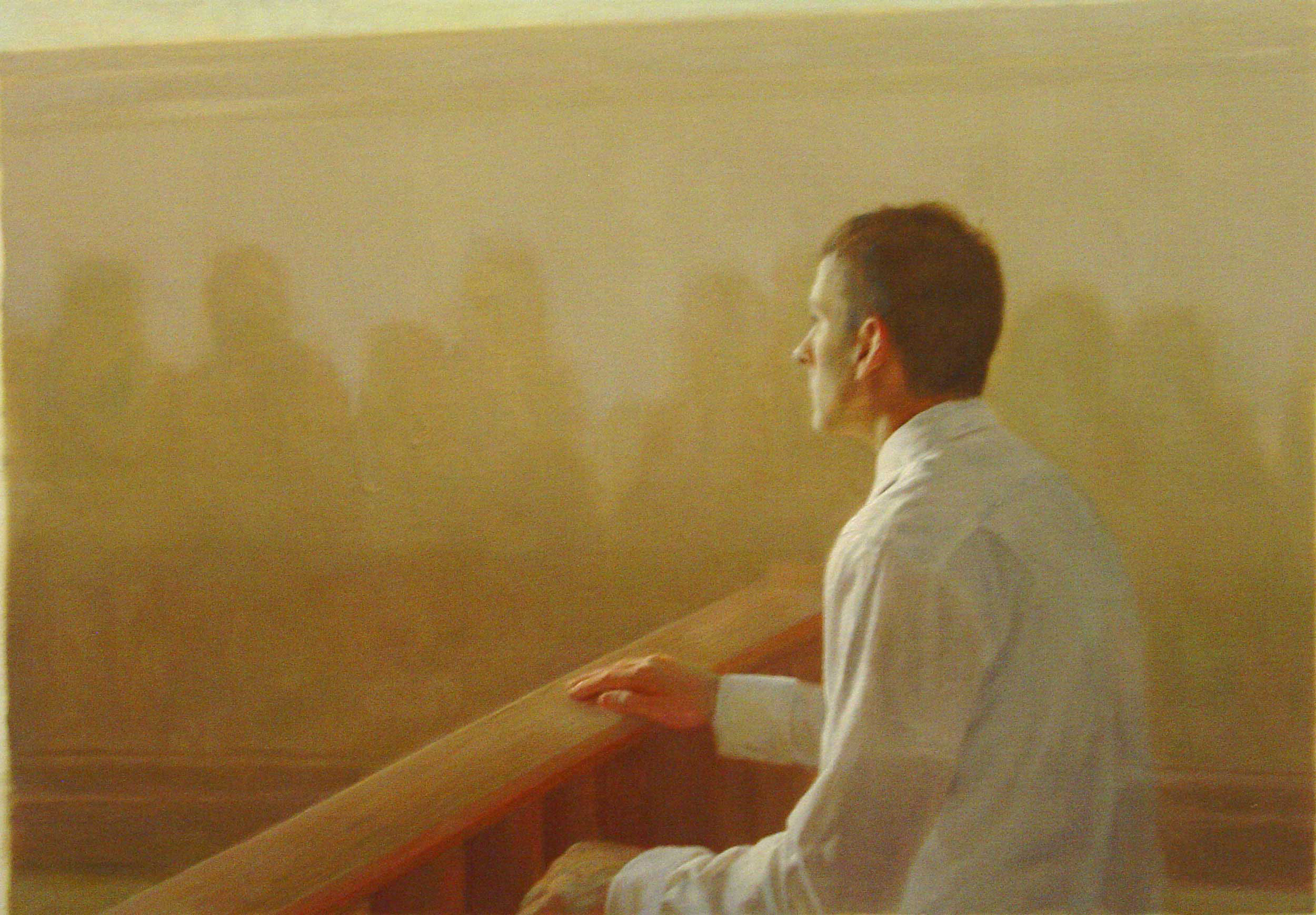 Bryan LeBoeuf   Witness ,   2006   Oil on canvas    28 x 40 inches