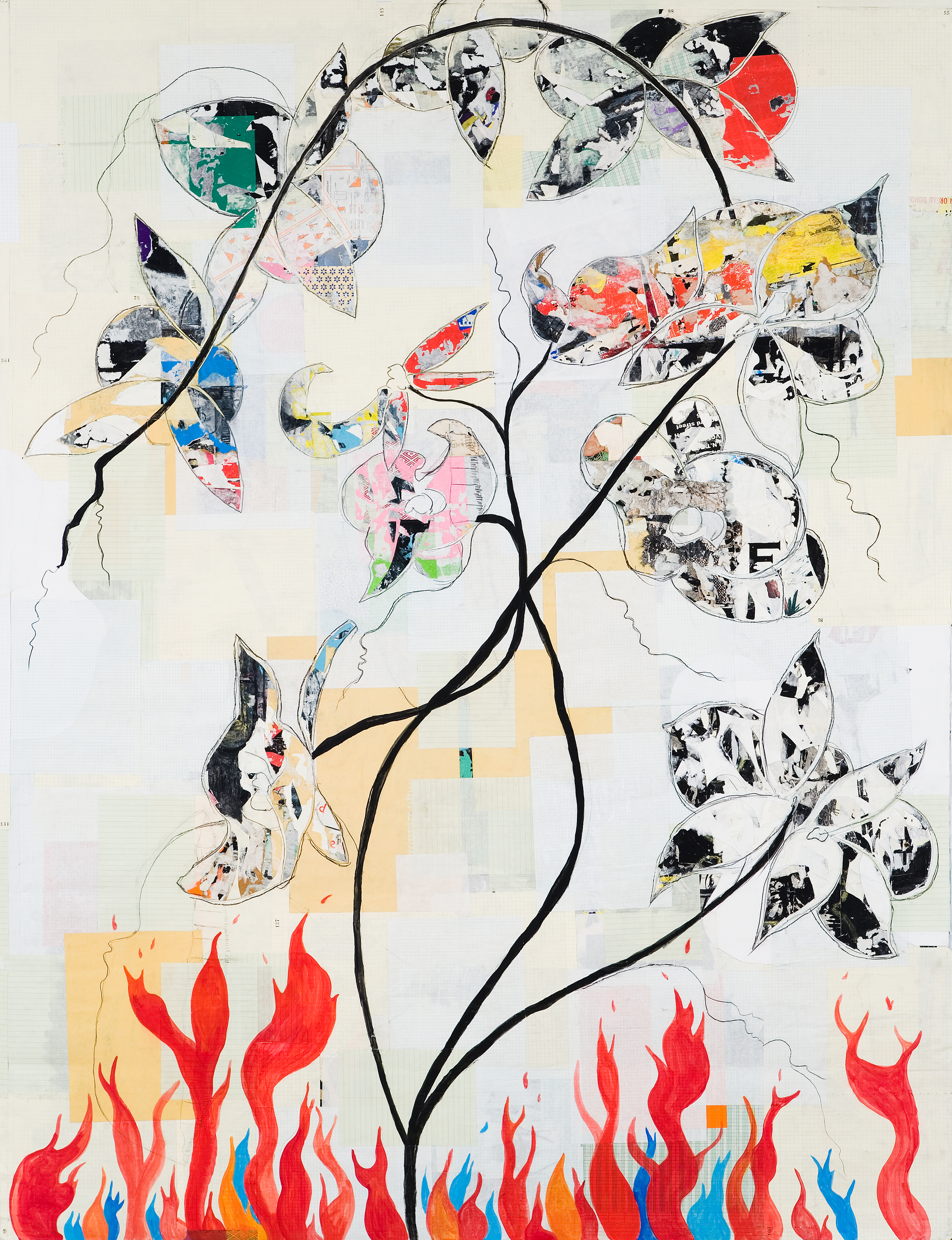 Matt Ernst Blaze Orchid, 2006 Mixed Media Collage on Canvas 50 x 75 inches