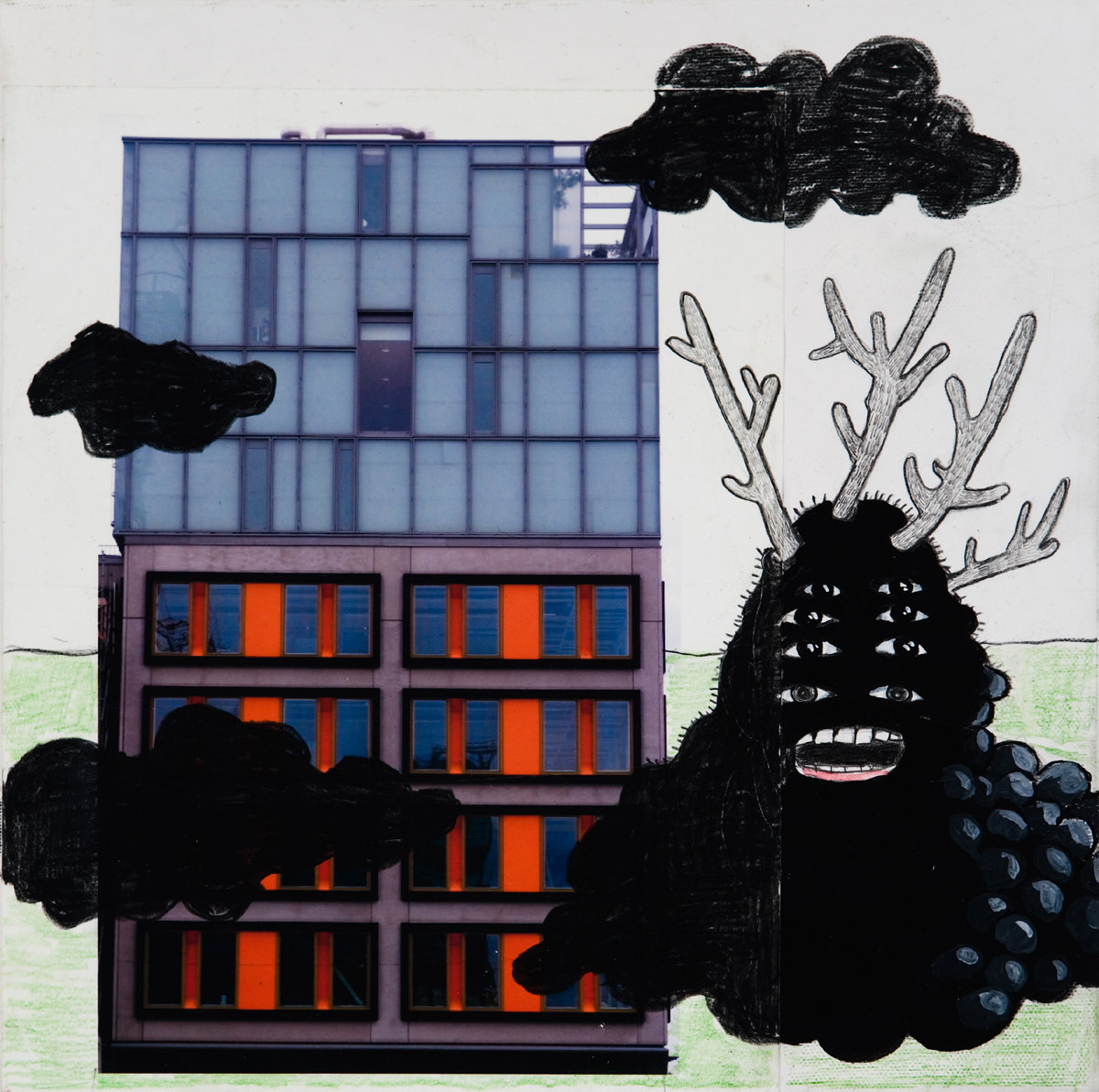Matt Ernst   Dark Clouds,  2006  Mixed media on canvas  12 x 12 inches