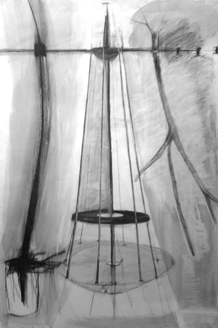 Jennifer Odem     Untitled   , 2000    Charcoal and pencil on paper     38 1/2 x 24 2/4 inches