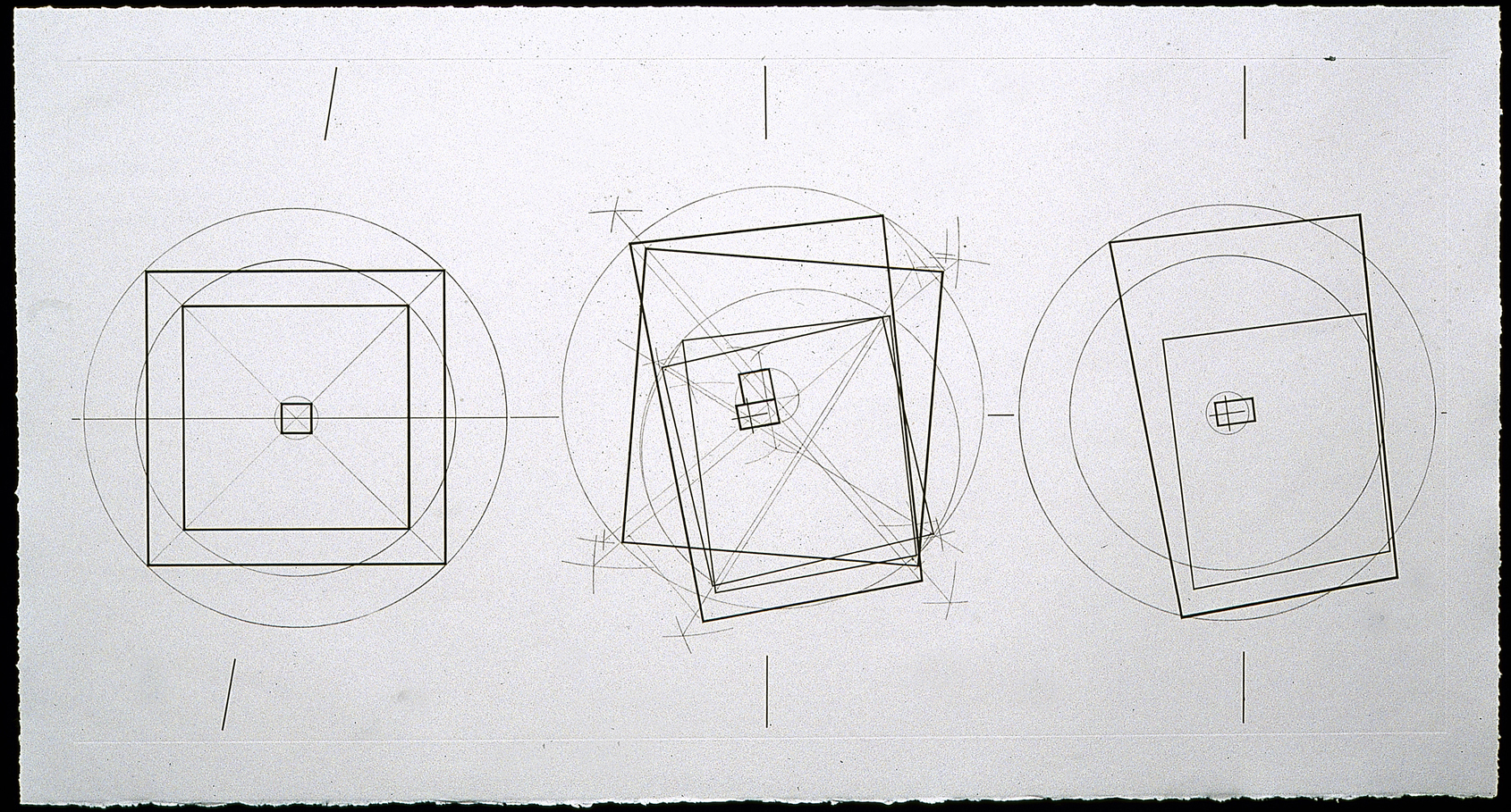 Robert Kirschbaum     Squaring the Mount, No. 3   , 1998    Etching    32 1/2 x 65 inches