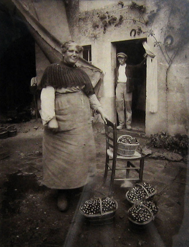 Eugene Atget     Femme de Verrieres,  1912, printed later by MoMA from original plate    9.5 x 7 inches    42/100, MoMA stamp at bottom right, 1978