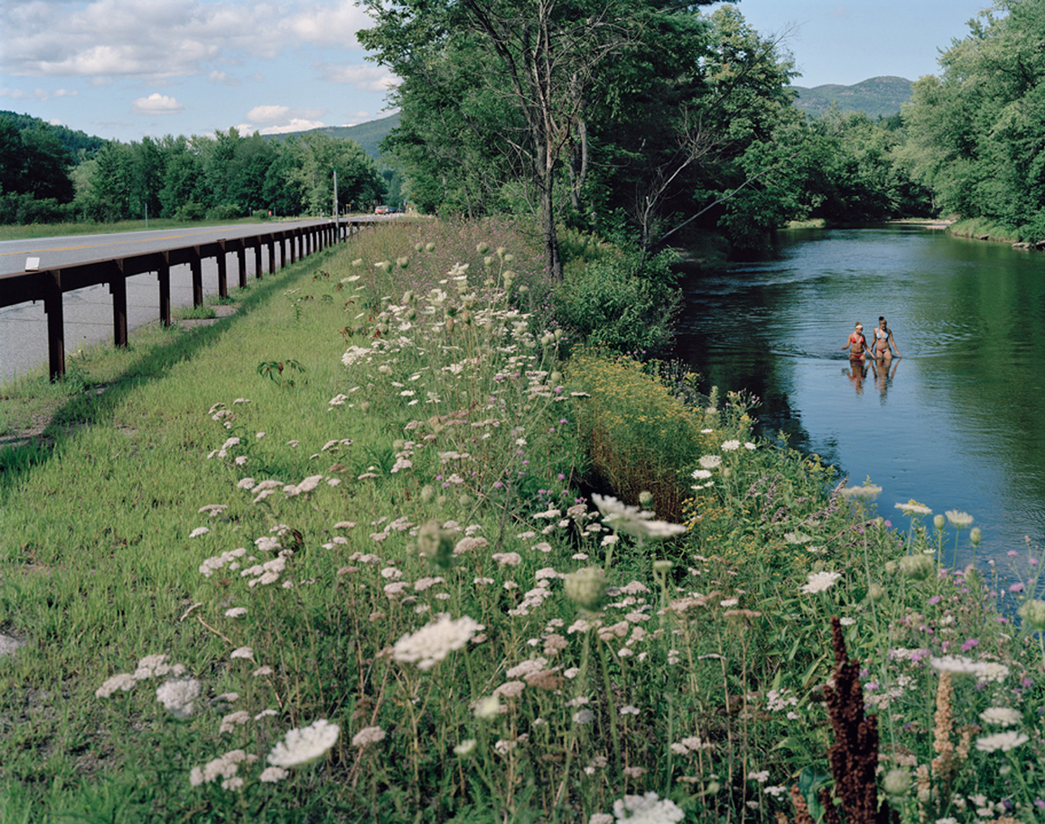 Rebecca Soderholm     Ausable River, Route 73, Keene NY,  2006    Inkjet print, edition of 7    24 x 30 inches