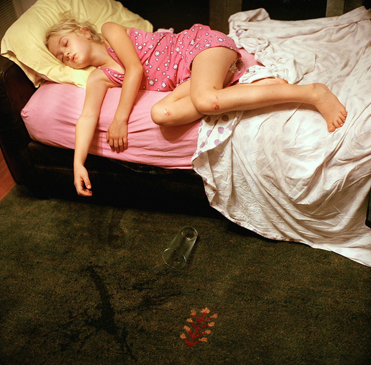 Rebecca Soderholm     Emma and Water Glass, New Haven, CT,  2005    Inkjet print, edition of 7    22 x 22 inches