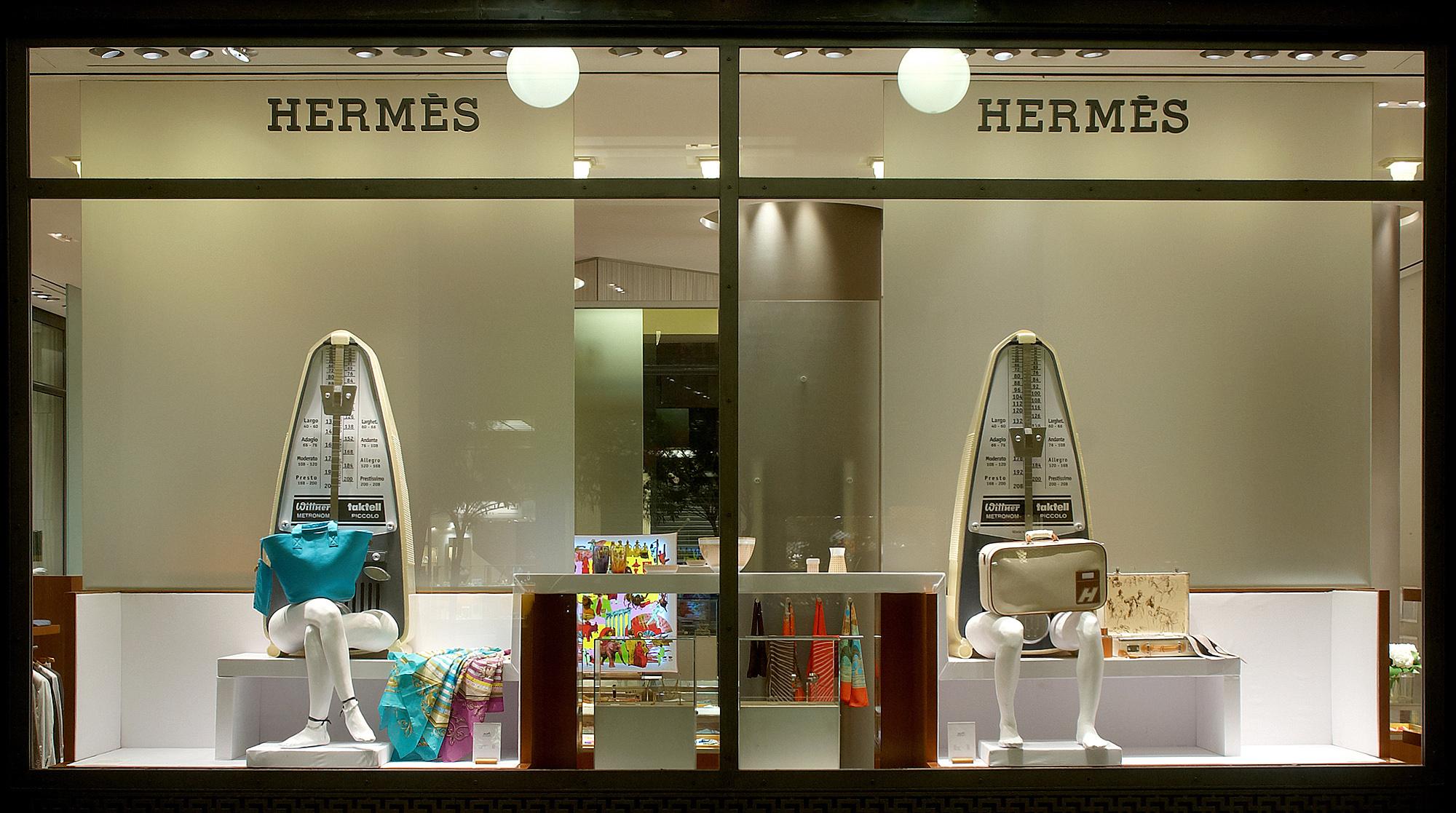 Maro Michalakakos  Hermes, Beautiful Escape, Metronome, 2009  Hermes Shop Window