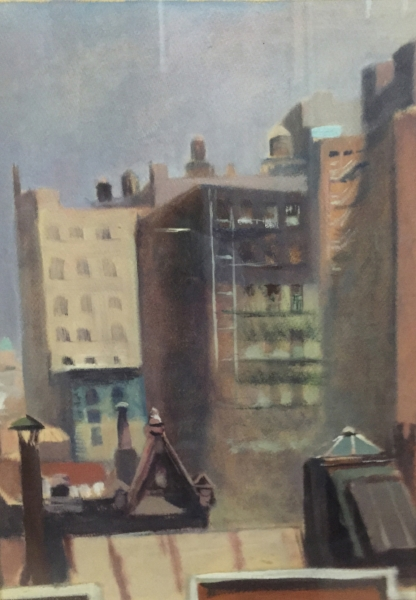 Guy Pène du Bois, Looking North from 20 W. 10th , ca. 1940s