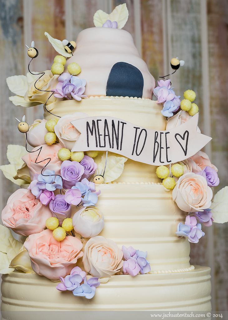 Honey Bee Engagement Cake - Sugar Lane Cake Shop