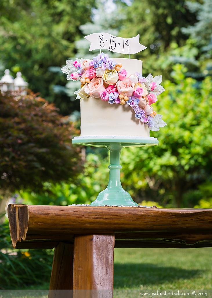 Brunch & Bubbly Bridal Shower Cake - Sugar Lane Cake Shop