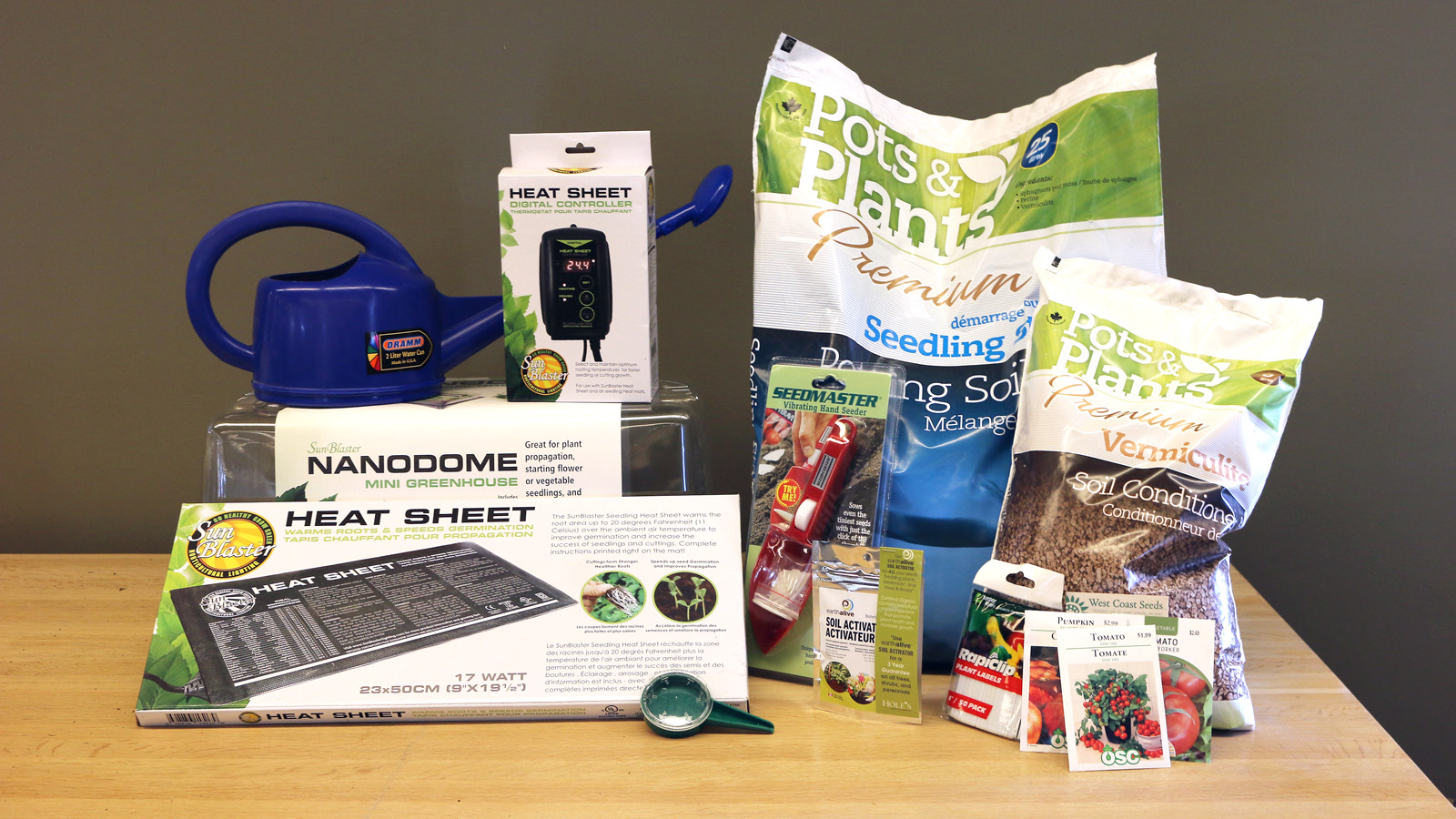 All the tools you need to get your seeds started indoors.