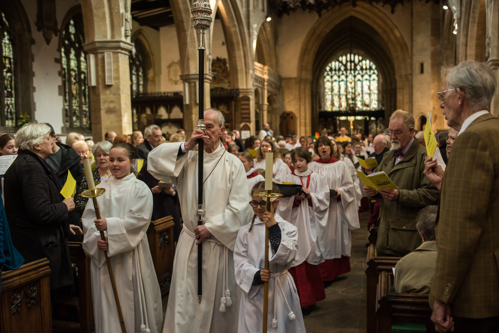 Easter day service at Holy Trinity Church Stratford-upon-Avon 2018