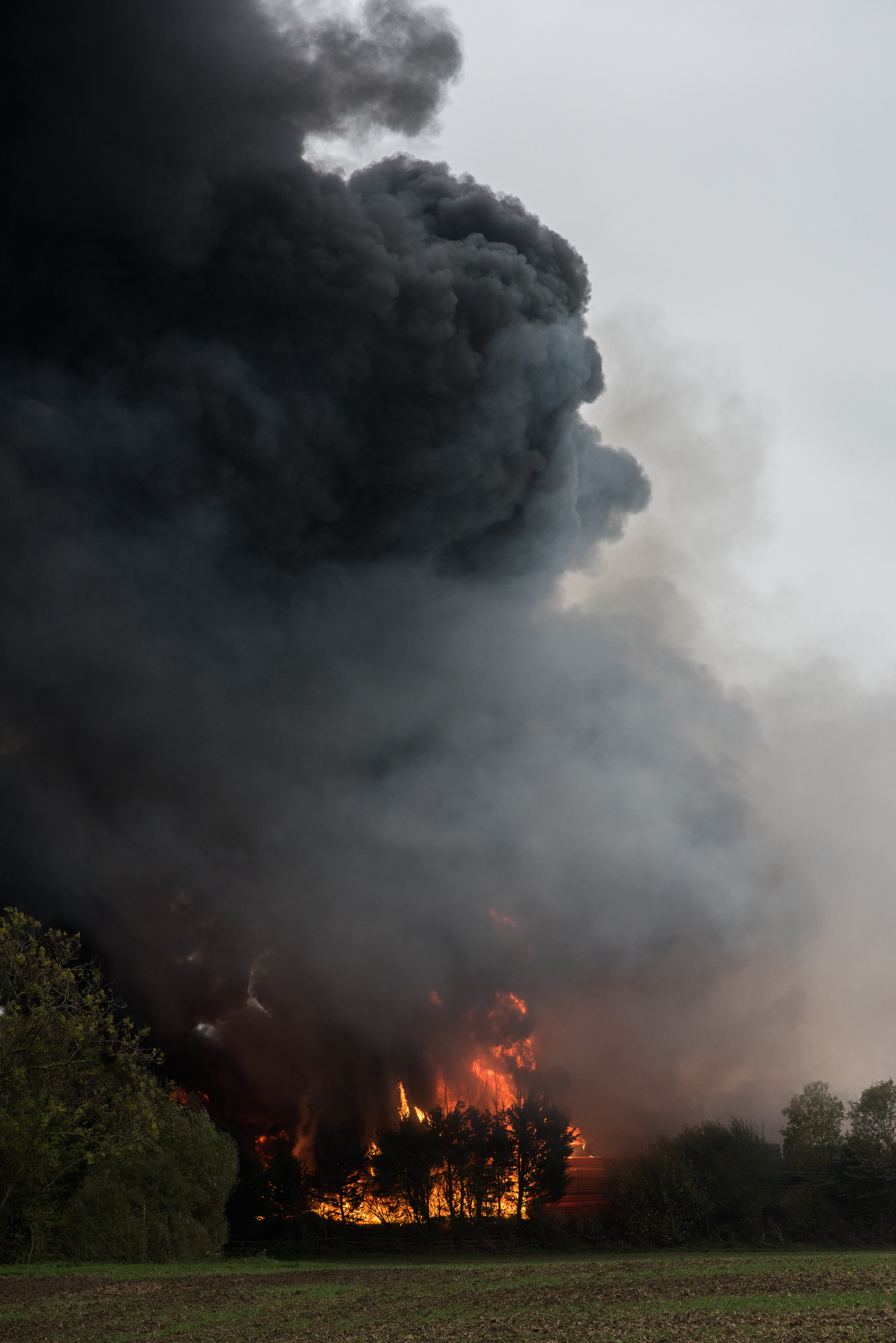 Goldicote business park fire, Close To Stratford-upon-Avon, England 2018