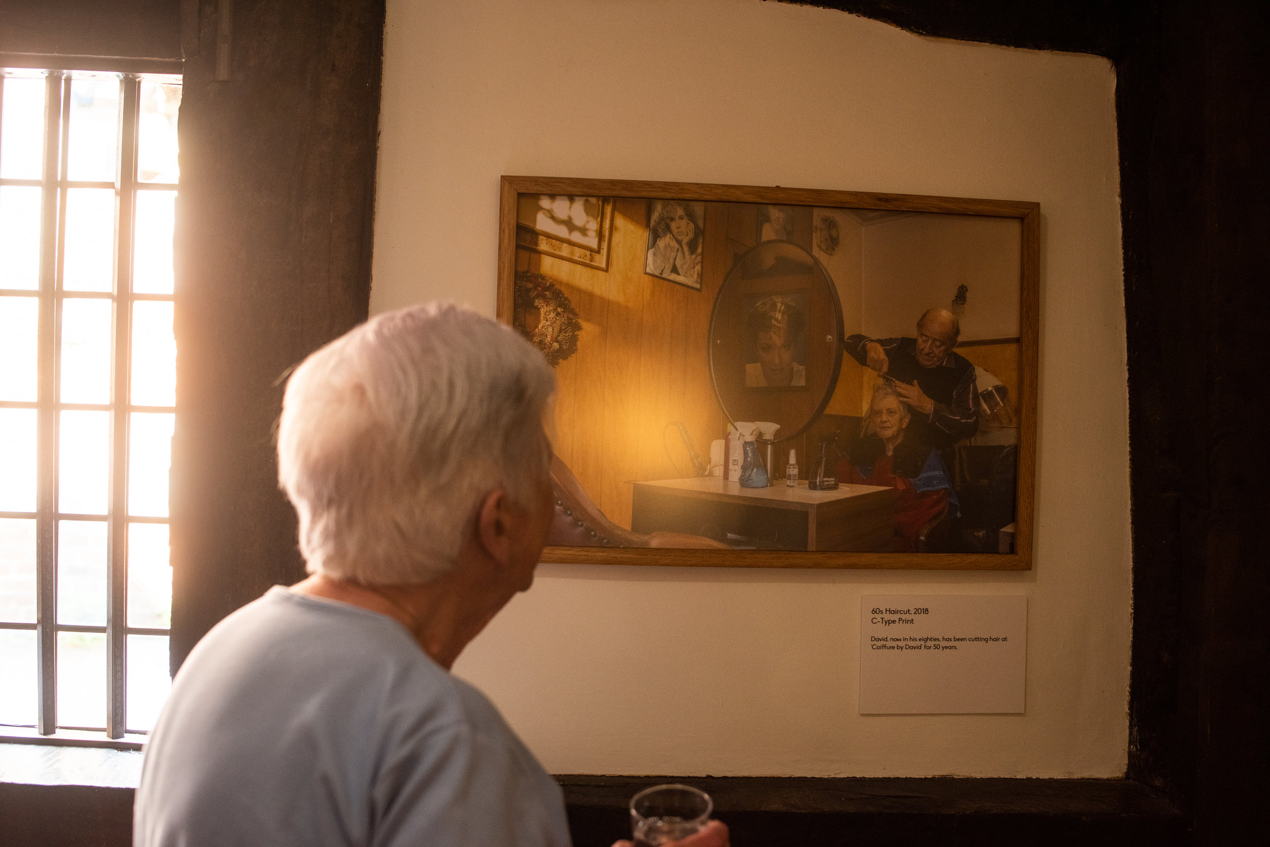 My Gran looking at her photograph