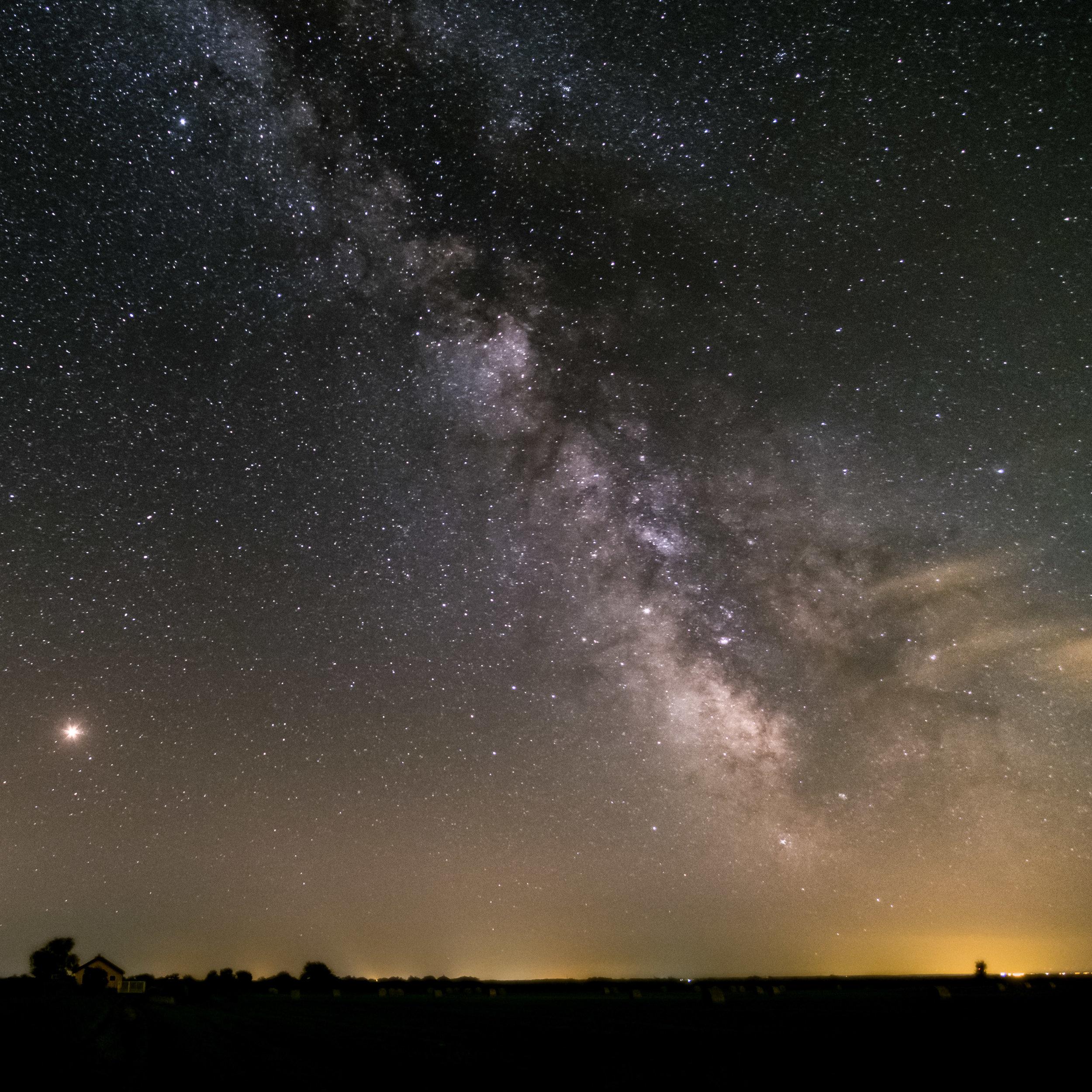 Milchstraße und Mars / Milky Way and Mars