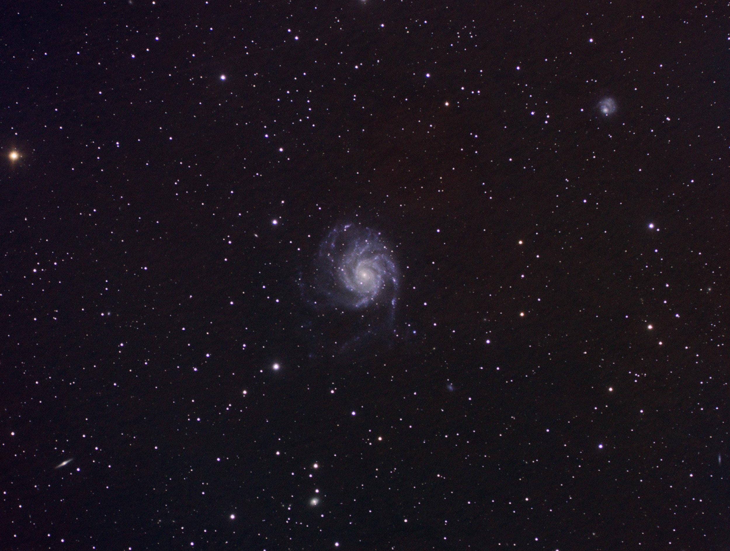 Frühling - Jahreszeit für Galaxien (Apetlon 2019)  M 101 - Pinwheel Galaxy (Feuerrad Galaxie)