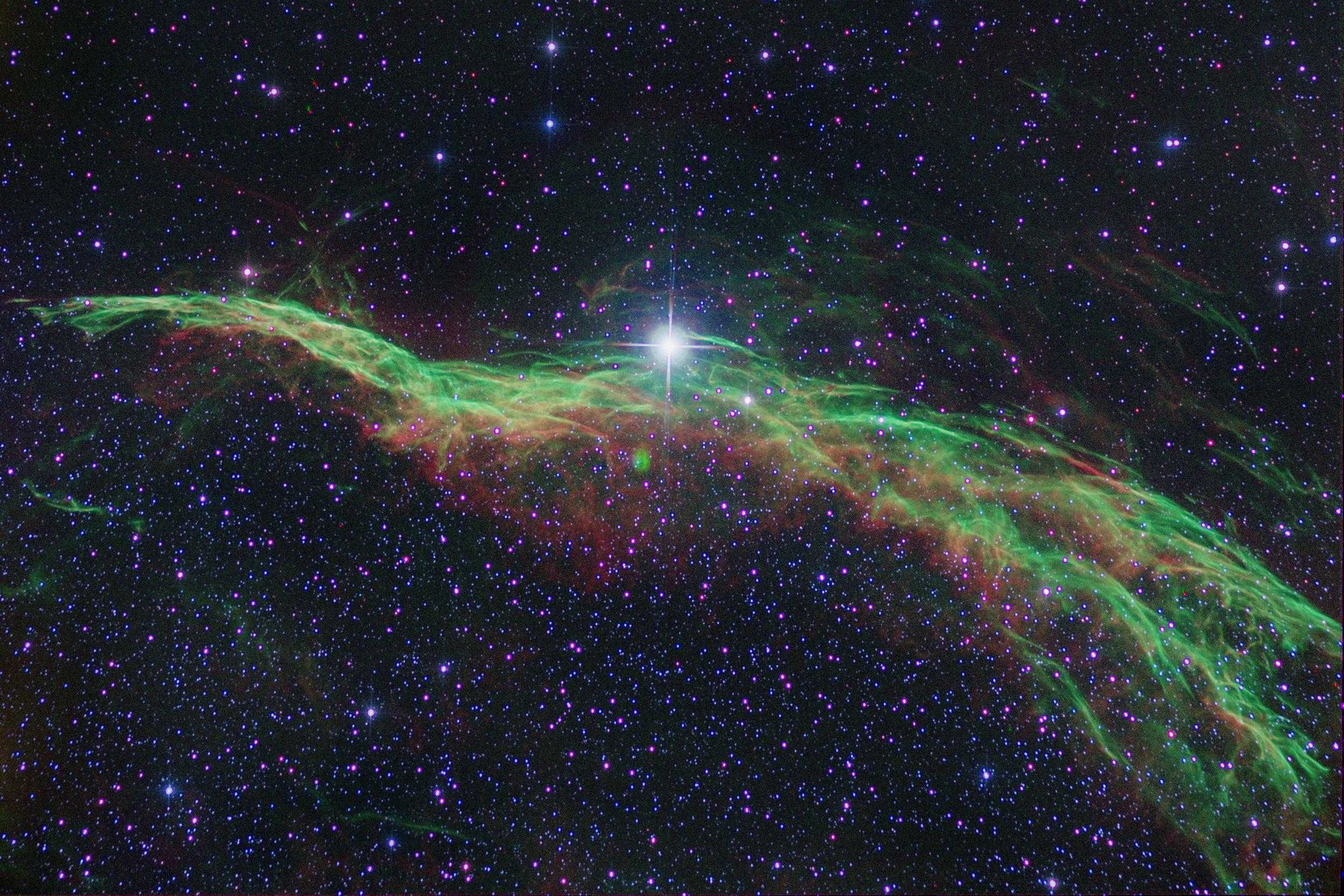 Der Hexenbesen Nebel im Schwan (Ha, OIII, B)  Witchesbroom nebula (Ha, OIII, B)