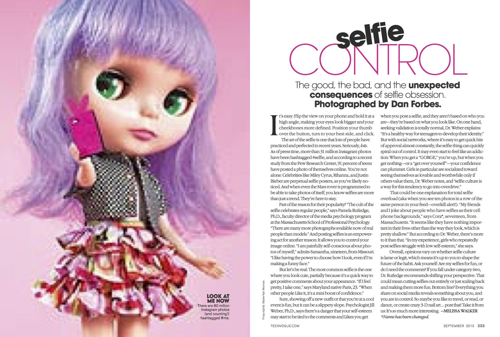 Selfies Teen Vogue