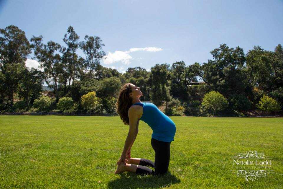 38 weeks pregnant Camel pose