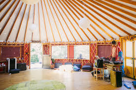 Our Yoga Room, A Beautiful Yurt!!