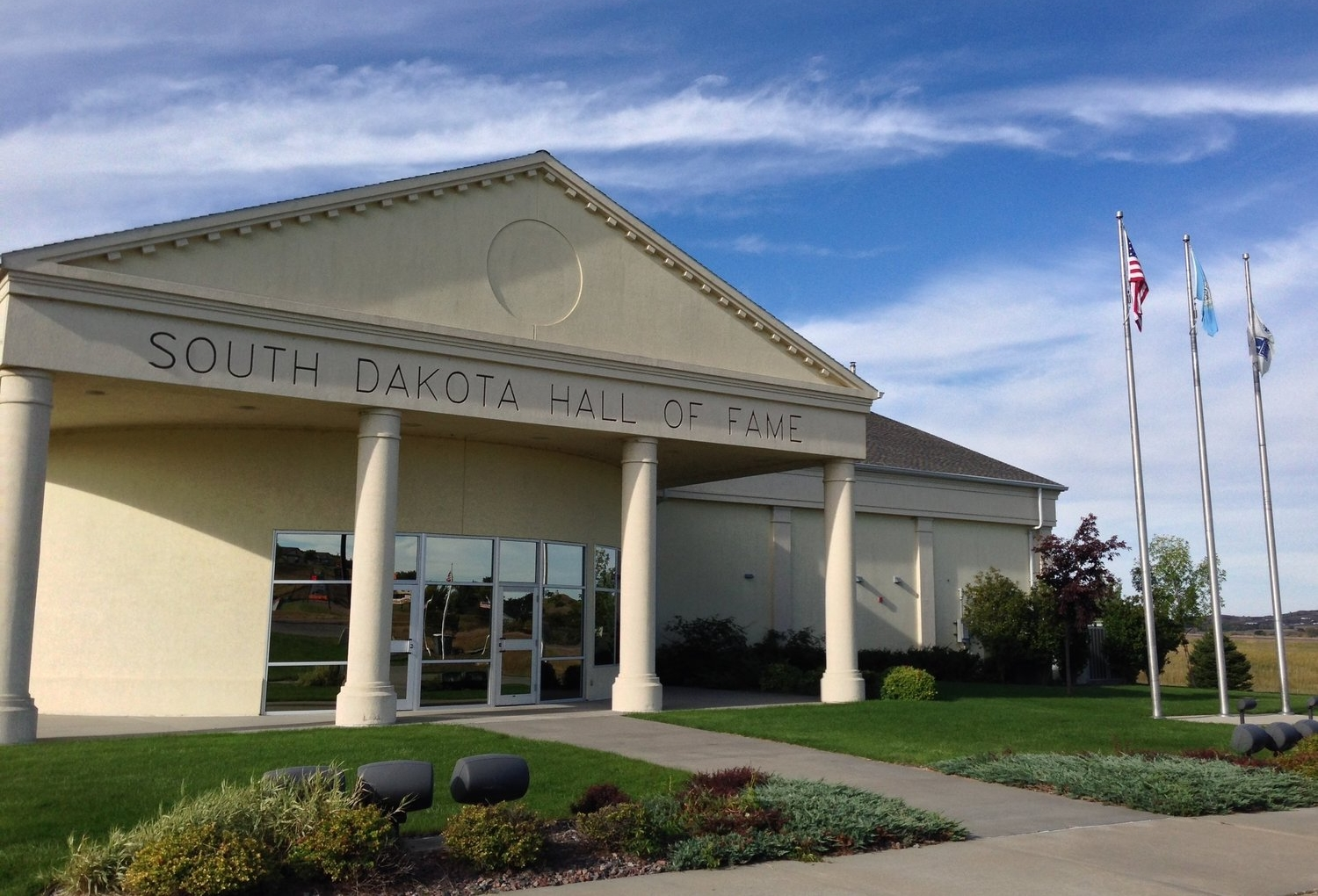 The South Dakota Hall of Fame is located in Chamberlain, South Dakota.