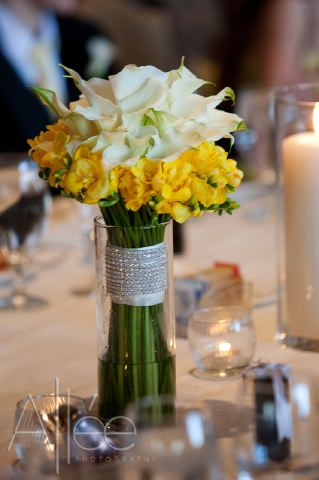 The Flower House Denver Yellow Freesia and white calla bouquet.jpg