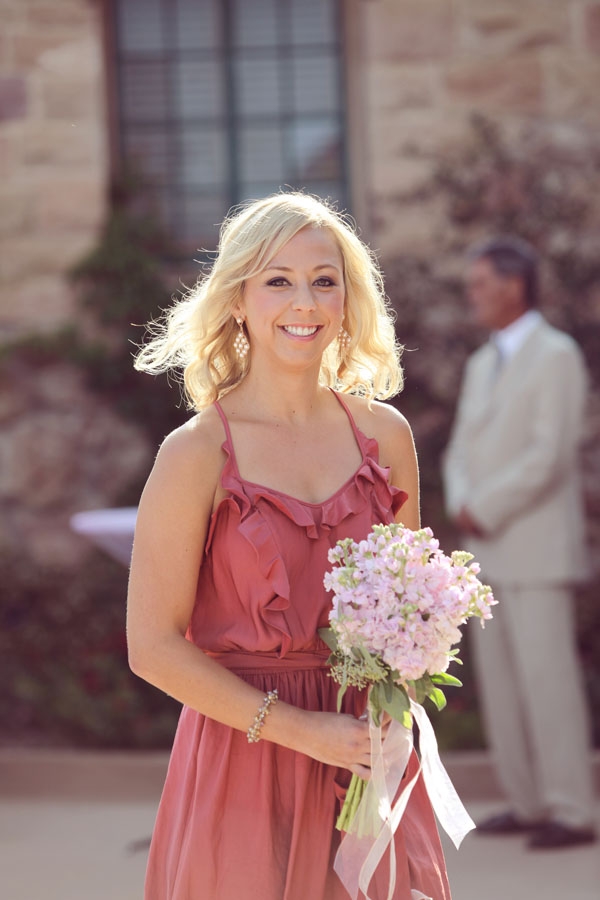 The Flower House - Bridesmaid with all pink stock bouquet.jpg