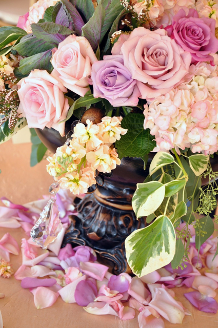 The Flower House Denver - Urn with pink and purple flowers.jpg