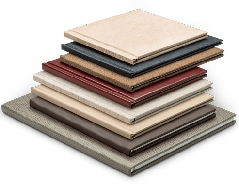 There is a wide variety of colors, textures, and finishes for the covers and pages.