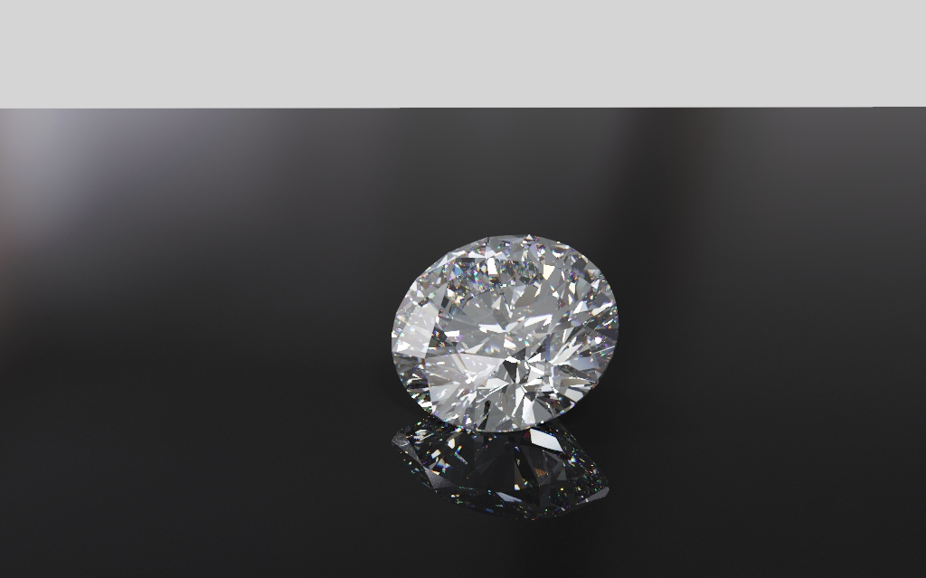 360 Looped video of rbc loose diamond - Download rotating round brilliant cut