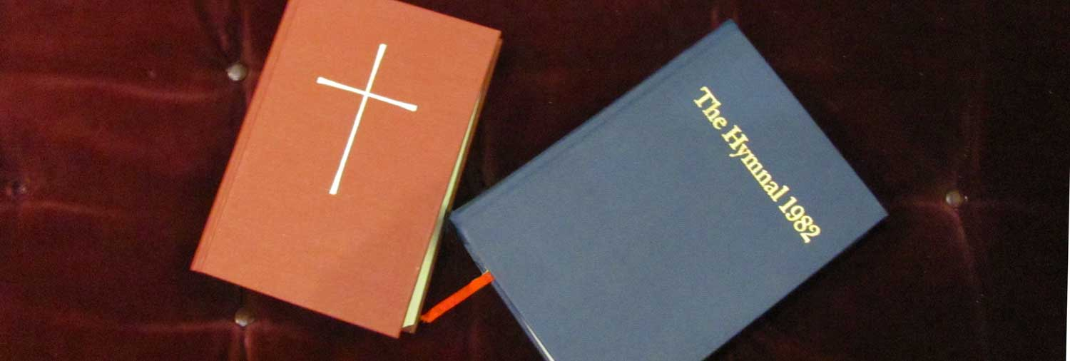 Episcopal  Book of Common Prayer  and  The Hymnal 1982