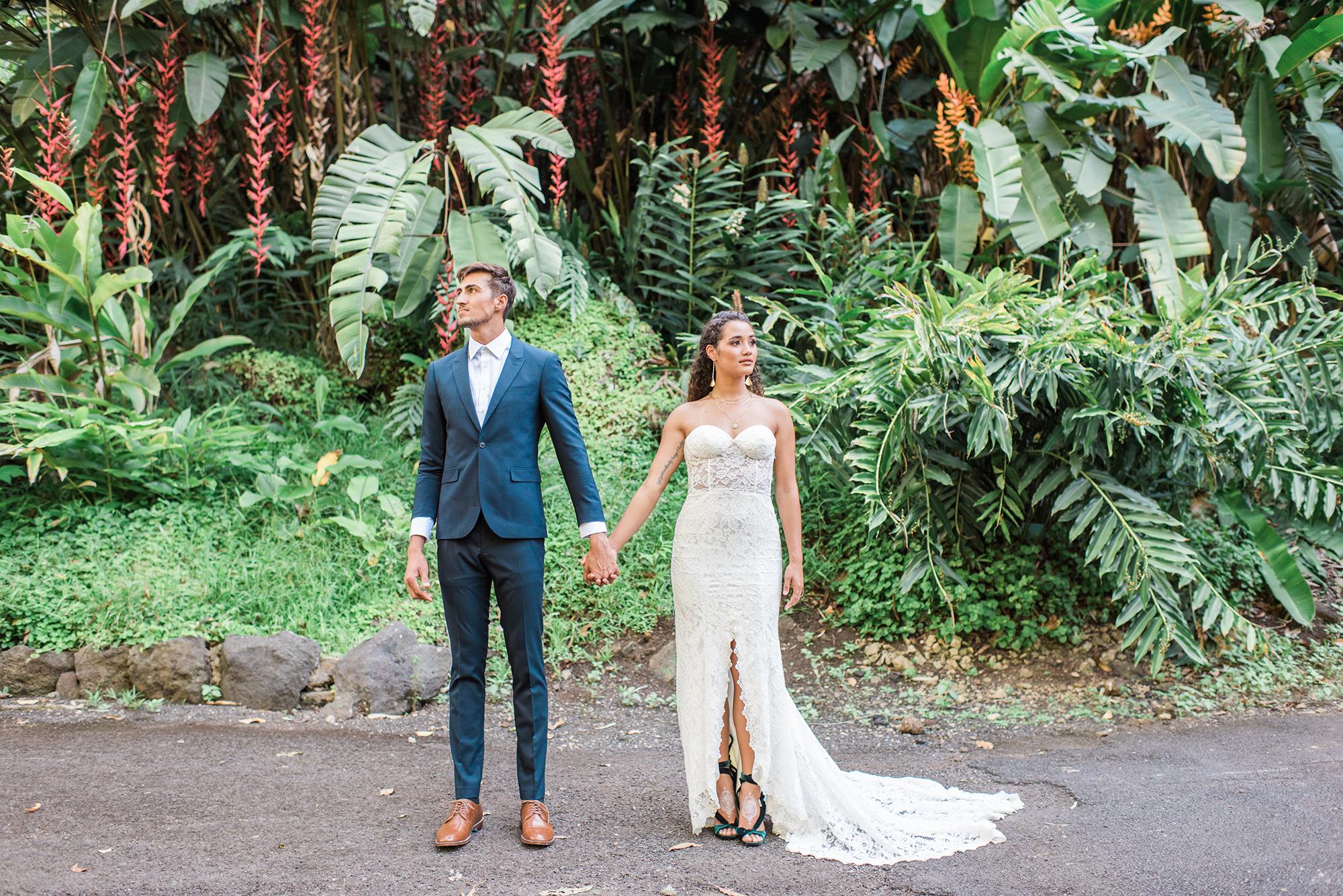 Waimea Valley North Shore Hawaii Wedding