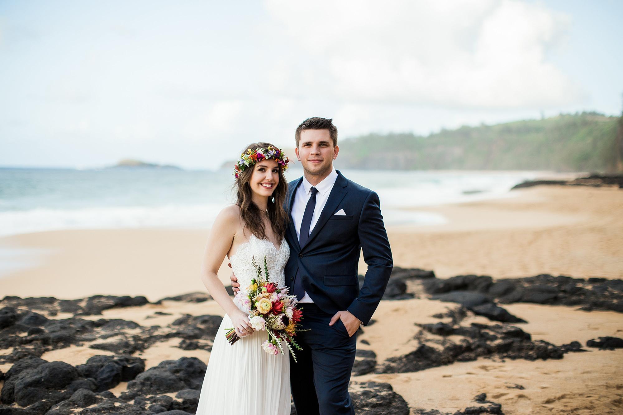 Intimate Elopement on the Beach in Kauai
