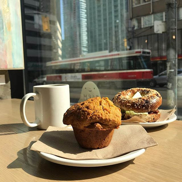 Spring is here and with it comes a new muffin! Come to Coffee Public and try our super delicious carrot and ginger muffin. . . . #coffeepublic #peacelovelattes #coffee #espresso #latte #local #supportlocal #toronto #porthope #torontocoffee #homemade #fresh #food #love #beautiful #happy #fun #life #art #health #healthyfood #goodfood #farmtobelly #farmtotable #new #spring #sunny #carrot #ginger