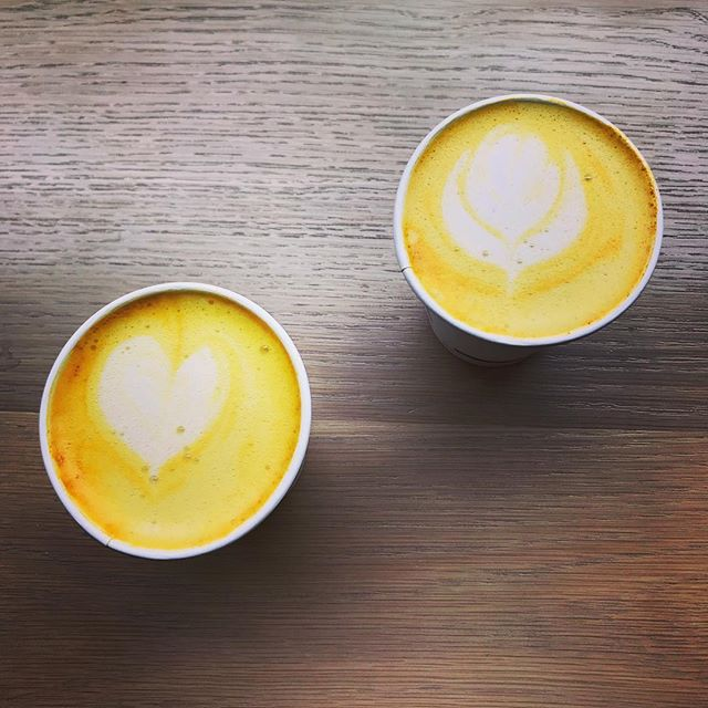 Enjoy a delicious turmeric tea latte with good company at Coffee Public thanks to our friends @genuinetea . . . #coffeepublic #peacelovelattes #coffee #espresso #latte #local #supportlocal #toronto #porthope #torontocoffee #homemade #fresh #food #love #beautiful #happy #fun #life #art #health #healthyfood #goodfood #farmtobelly #farmtotable #tea #tealatte #turmeric #spring #springbreak #summer