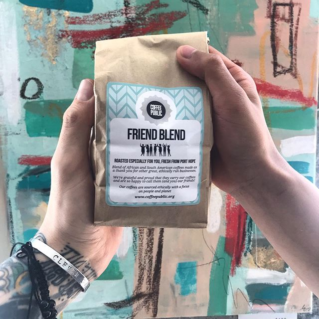 A mix of Burundi and Ecuador, Friend Blend is a solid medium roast. Come down to Coffee Public and enjoy. . . . #coffee #coffeeshop #toronto #independent #local #love #peace #lattes #cafe