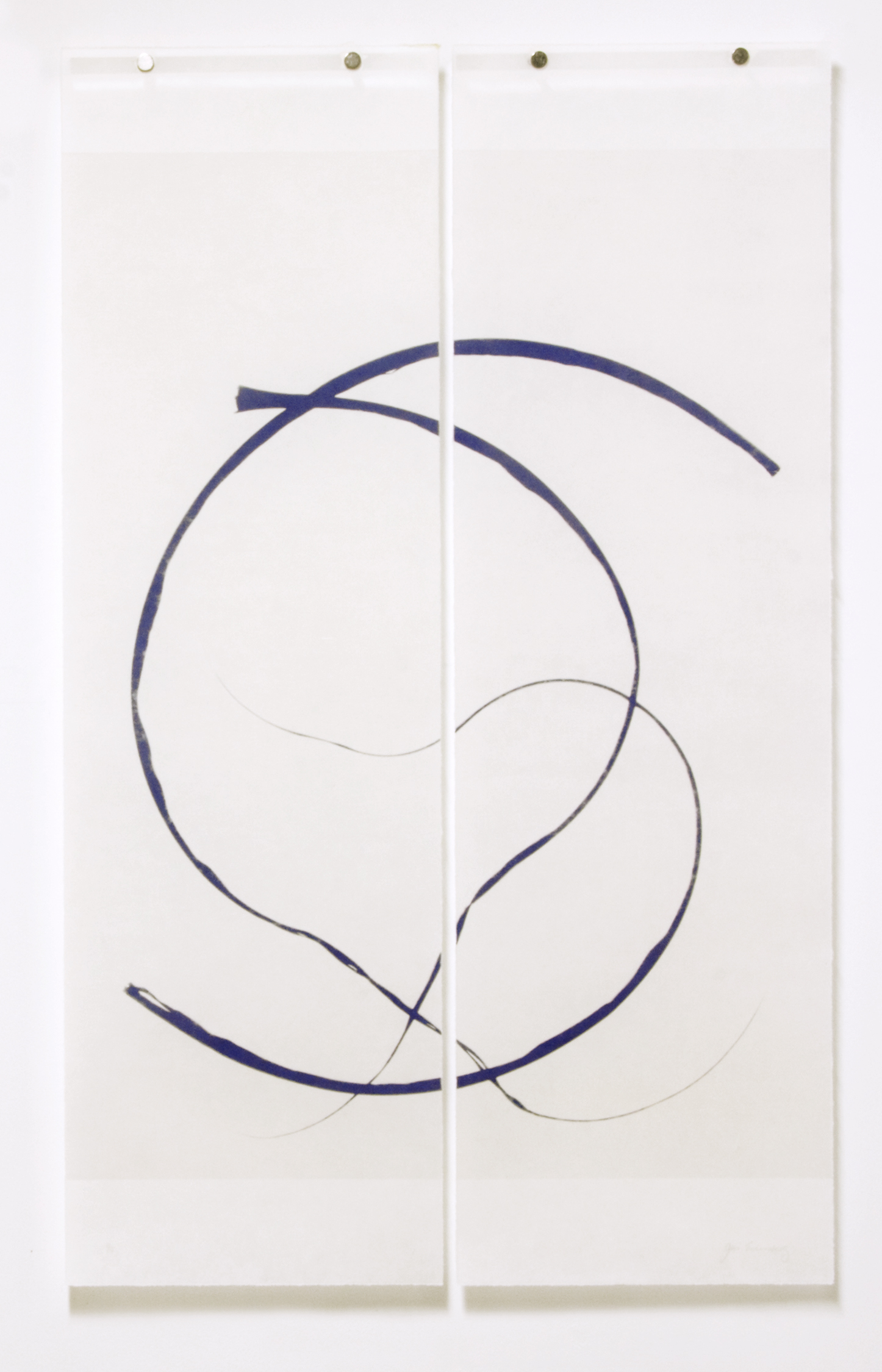 Curved Grass (Reversed), No.2
