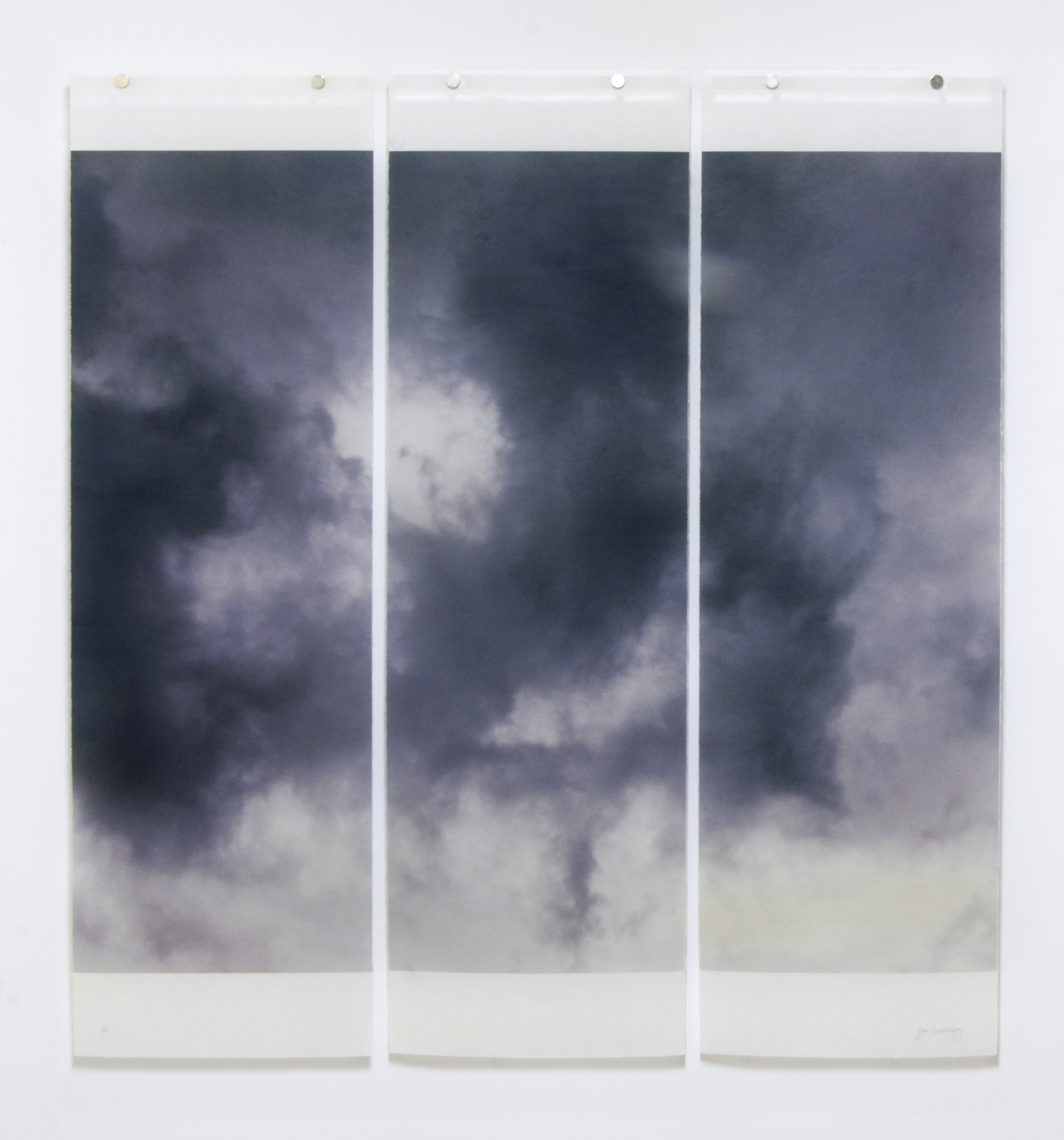 """Songs of the Sky, Revisited, No.7,  36"""" x 34"""", pigment ink on Japanese Kozo with encaustic medium"""