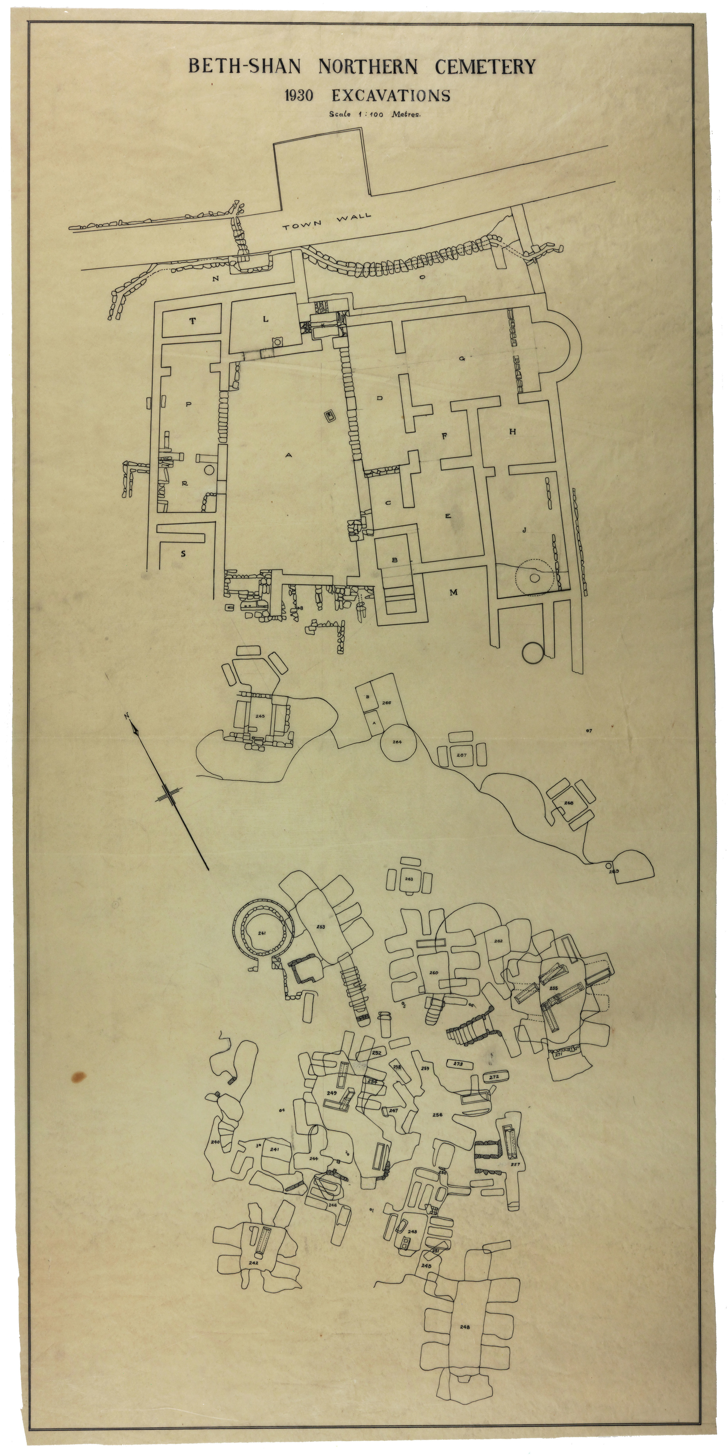 Plan of tombs excavated in 1930.