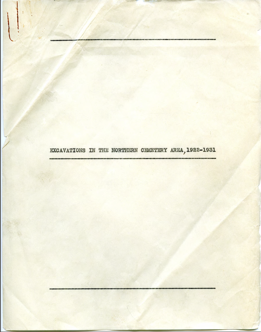 Front page of Fitzgerald's planned Northern Cemetery publication.