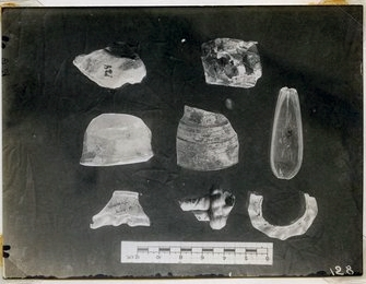 Glass fragments from the vicinity of the south end of the Summit.