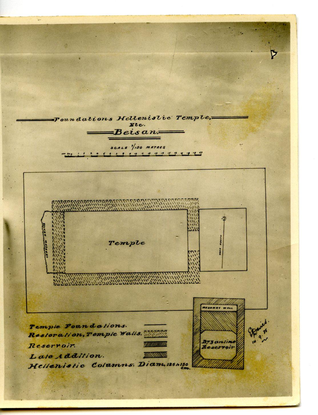 Plan of the Roman Temple