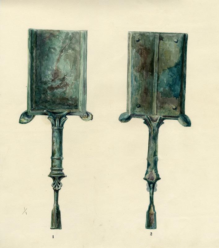 Watercolor of an Incense Shovel