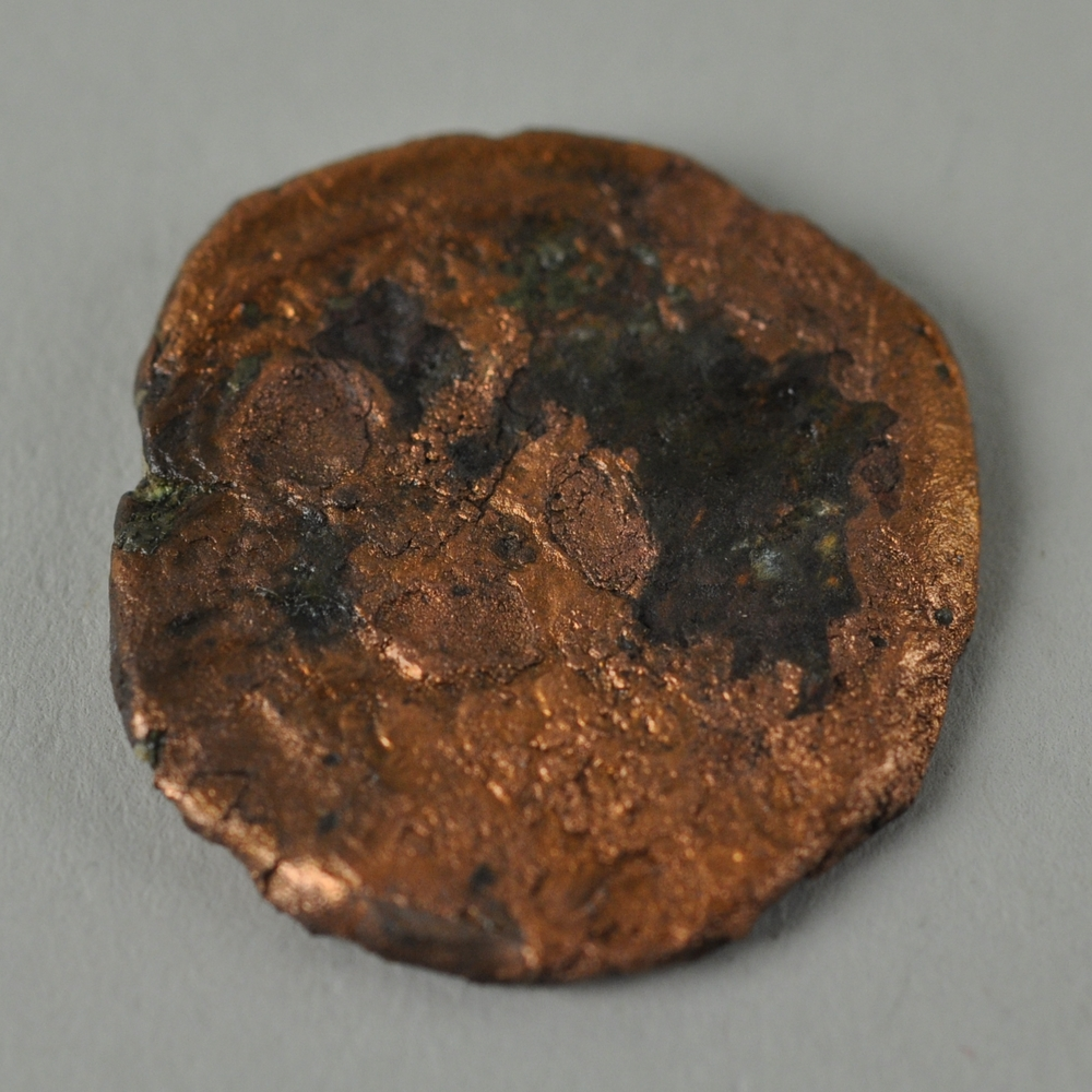 Copper Follis of a Byzantine Emperor from the Tel