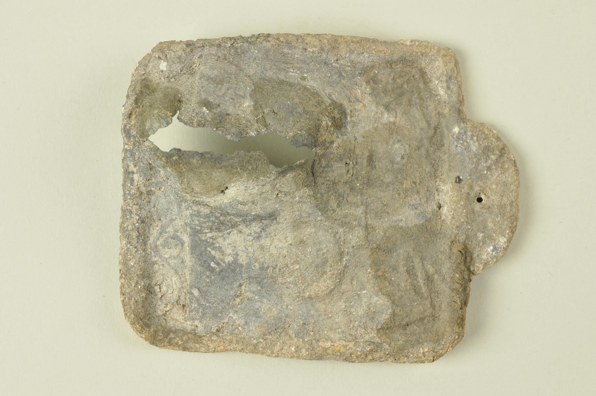 Pierced lead plaque