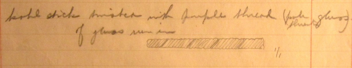 Drawing and entry from the field register.
