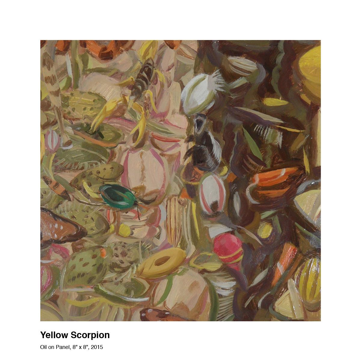 Yellow Scorpion (2015)- oil on panel 8x8 copy.jpg