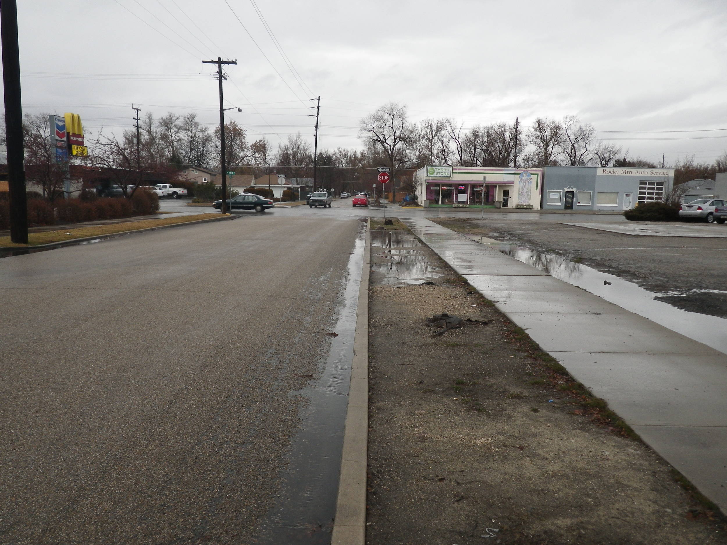 25th Street - current condition  Credit - Ada County Highway District (ACHD)