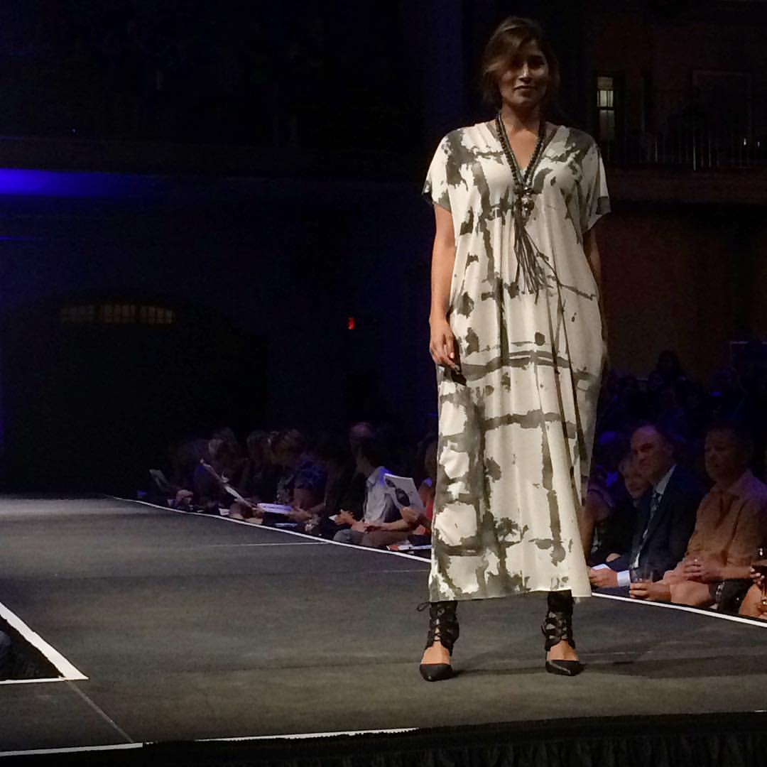 ACG on the runway at Fashionopolis last night - thanks to @tessalouise_designstudio for the photo! #mplsdesign #mnfw #slowfashion